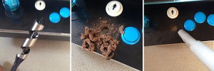 ハンズマンで買ってきた木工用ドリルで穴を開ける!ドリルは男のロマン!